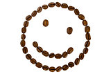 person smile from coffee beans