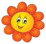 Happy flower head theme image 1