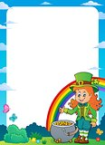 Leprechaun girl theme frame 1