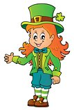Leprechaun girl theme image 1