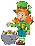 Leprechaun girl theme image 2