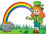 Leprechaun girl theme image 3