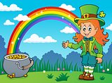 Leprechaun girl theme image 4