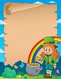 Leprechaun girl theme parchment 1