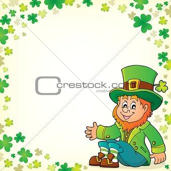 Sitting leprechaun theme image 5