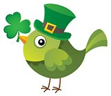 St Patricks Day theme with bird image 1