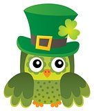 St Patricks Day theme with owl image 1