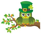 St Patricks Day theme with owl image 2