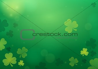 Three leaf clover abstract background 2