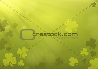 Three leaf clover abstract background 3