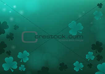 Three leaf clover abstract background 4
