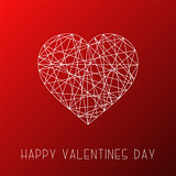 Happy valentines day background, card. Abstract striped minimalistic heart