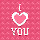 Valentines vector background. I love you card. Seamless hearts pattern