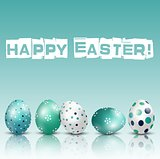 Happy Easter Background with eggs of shadow