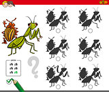 shadow activity game with bug characters
