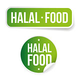 Halal Food label sign