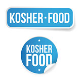 Kosher food label sticker