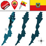 Map of Bogota with Subdivision