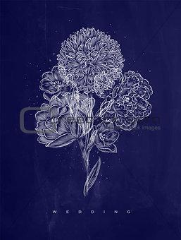 Poster wedding flower