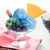 Blueberry ice cream bowl