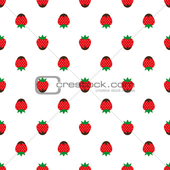 Abstract seamless white strawberry background