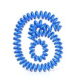 Spring, spiral cable number SIX 6 3D