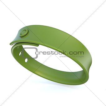 Green rubber bracelet. 3D