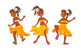 Dancing little African girls