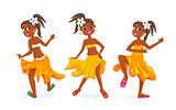 Dancing little African girls