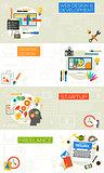 Graphic Design, Webdesign, Development, Startup and Freelance Concept Illustrations
