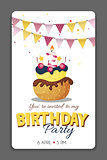 Birthday Party Invitation Card Template Vector Illustration