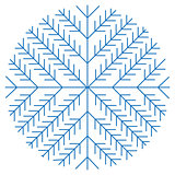 Christmas snowflakes on white background. Vector Illustration.