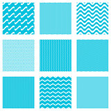 Seamless wavy line patterns collection