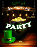 St. Patrick s Day poster. Vector illustration