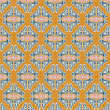 Ornament decorated mustard shapes seamless vector pattern.