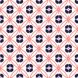 Rhombs decorated shapes seamless vector pattern.