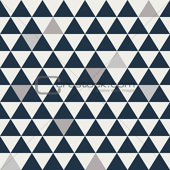 Blue and grey triangle seamless vector pattern.