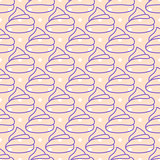 Marshmallows pink seamless vector pattern.
