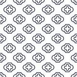 Quatrefoil seamless line vector pattern.