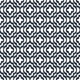 Quatrefoil ikat contour seamless line vector pattern.