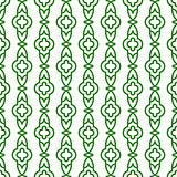 Green line geometric seamless vector pattern.