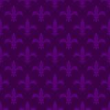 Mardi gras fleur de lis vector seamless pattern.