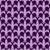 Mardi gras fleur de lys vector decorated seamless pattern.