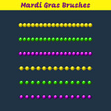 Mardi gras beads vector pattern brushes add-on.