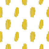 Yellow embroidered rough dots pattern vector.