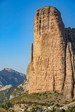 Mallos de Riglos with El Puro against blue sky #2