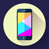 Mobile phone icon, phone icon vector