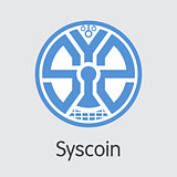 Syscoin Digital Currency. Vector SYS Coin Image.
