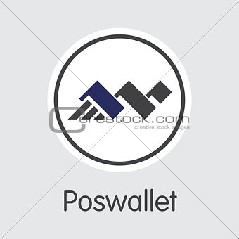 Poswallet - Crypto Currency Coin Symbol.