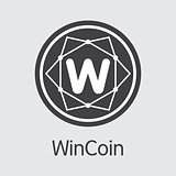 Wincoin Cryptocurrency - Vector Coin Image.